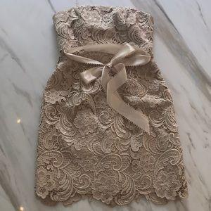 Adrianna Papell Boutique Cream Dress
